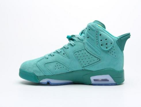 2020 Air jordan 6 Retro Ice Green Shark Green CT4954-114