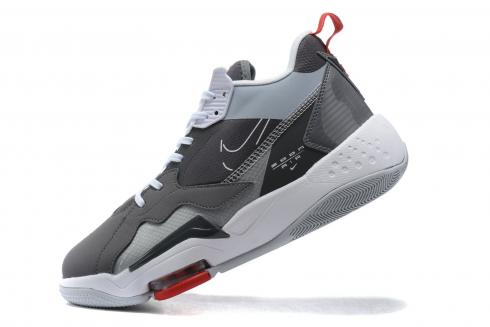 2020 Nike Jordan Zoom 92 Grey White Red Basketball Shoes For Sale CK9183-010