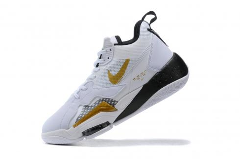 2020 Nike Jordan Zoom 92 White Black Metallic Gold New Release CK9183-005