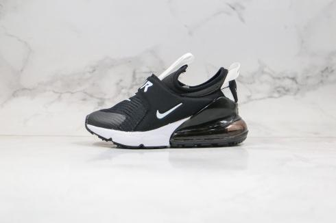 2020 Nike Kids Air Max 270 Extreme Casual Shoes Black White Comfort CI1107-001