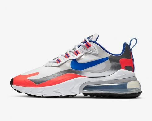 Nike Air Max 270 React Knicks White Flash Crimson Racer Blue CW3094-100