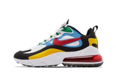 Nike Air Max 270 React Multi-Color White University Gold Red DA2610-161