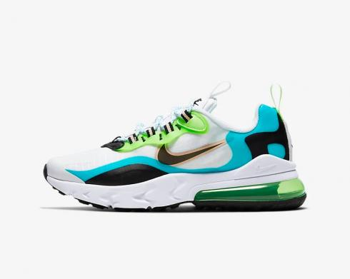 Nike Air Max 270 React SE GS Oracle Aqua White Black Ghost Green CJ4060-300