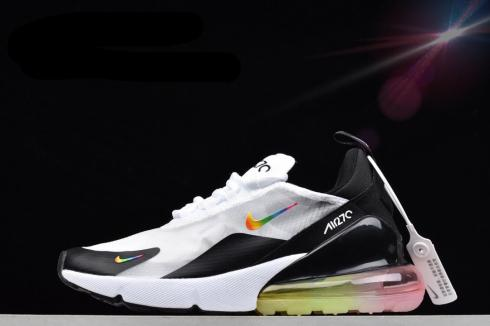 Nike Air Max 270 White Black Colorful Running Shoes AQ8050-101