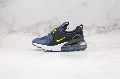 Nike Kids Air Max 270 Extreme Casual Shoes Navy Black Fluorescent Green CI1107-006
