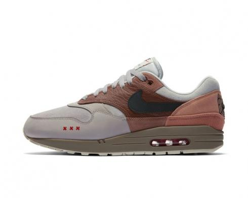 Nike Air Max 1 City Pack Amsterdam Red Bark Khaki Terra Blush CV1638-200