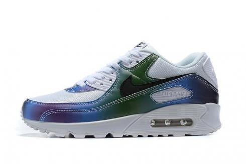 2020 New Nike Air Max 90 Bubble Pack Blue Summit White Running Shoes CT5066-100