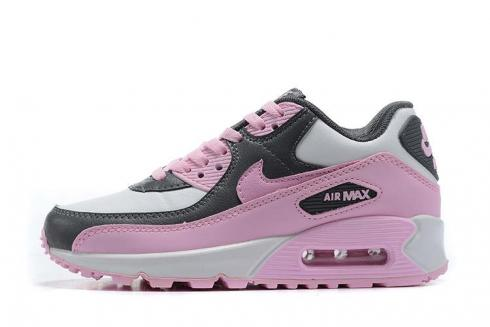 2020 New Nike Air Max 90 Essential LTR White Pink Grey Running Shoes CD6864-002