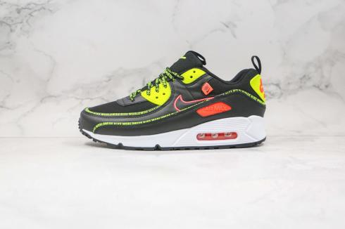 2020 Nike Air Max 90 Worldwide Pack SE2 Black Green Strike Flash Crimson CV7665-001