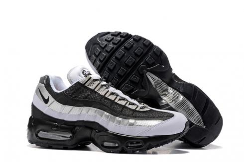 Nike Air Max 95 Pure Black White Silver Men Running Shoes