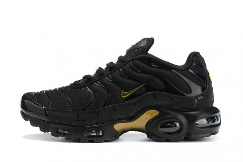 Nike Air Max Plus Running Shoes Black Metallic Gold DC4118-001 for Sale