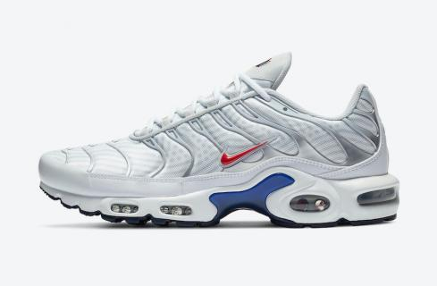 Nike Air Max Plus Euro Tour Grey Red Blue Running Shoes CW7575-001
