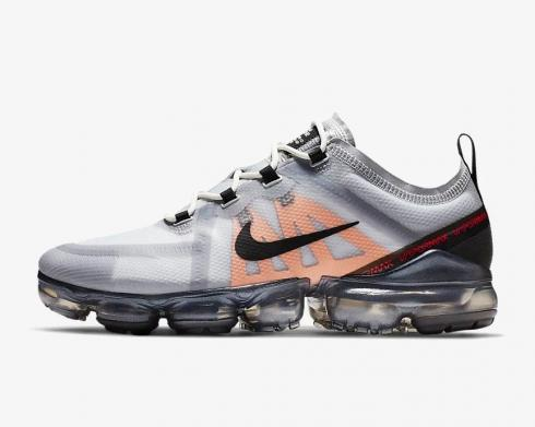 Nike Air VaporMax 2019 Wolf Grey Pure Platinum Fuel Orange Black AR6631-006
