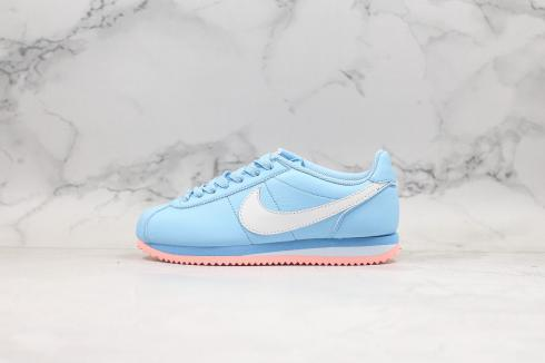 Nike Cortez Basic SL Psychic Blue White Pink Shoes AH7528-400