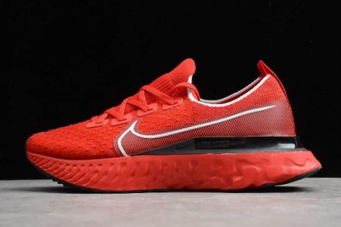 2020 WMNS Nike React Infinity Run Flyknit Red Black White Running Shoes CD4372 600