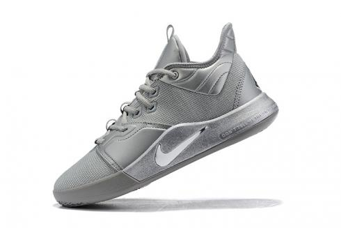 2020 Nike PG 3 NASA EP Silver Reflective Paul George Basketball Shoes CI2667-100
