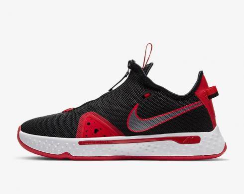 Nike PG 4 Bred Black University Red White CD5079-003