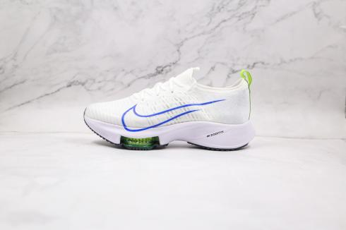 Nike Air Zoom Tempo Next% White Bolt Black Racer Blue CI9923-103