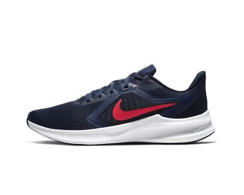 Nike Downshifter 10 Midnight Navy Obsidian Mist White Laser Crimson CI9981-400