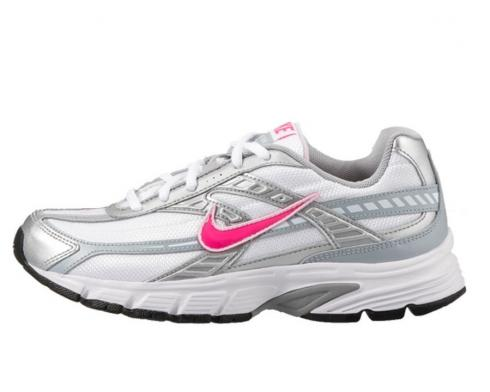 Nike Initiator Womens White Pink Gray Running Shoes Size 394053-101