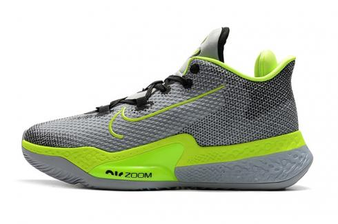 Nike Zoom BB NXT Wolf Grey Fluorescent Green Basketball Shoes CK5707-203