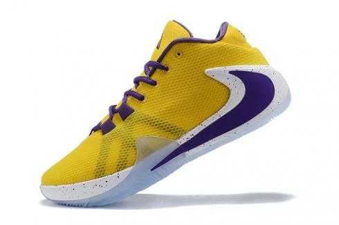 Nike Zoom Freak 1 Active Yellow Purple White Basketball Shoes BQ5422-508