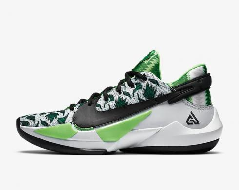 Nike Zoom Freak 2 Naija Pure Platinum Pine Green Black DA0907-002