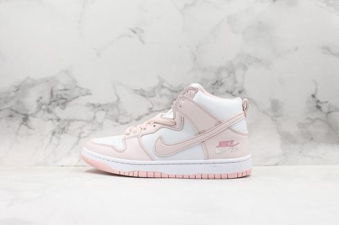 Nike SB Dunk High Pro Cherry Pink White Skate Running Shoes 854851-331