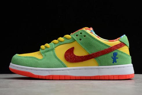 Nike SB Dunk Low ACG Yellow Green Red Shoes CT5053-005
