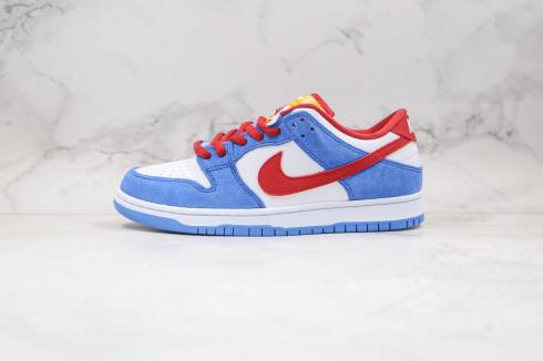 Nike SB Dunk Low Doraemon White Blue Red Men Women Casual Shoes BQ6817-161 for Sale
