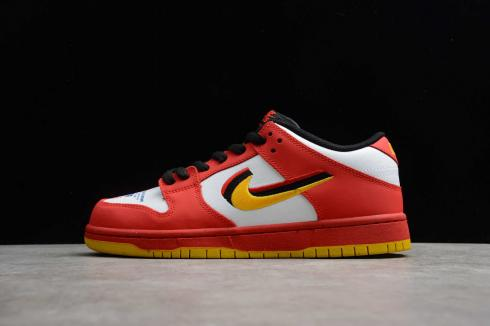 Nike SB Dunk Low Varsity Red Earth Yellow Black White 309242-307