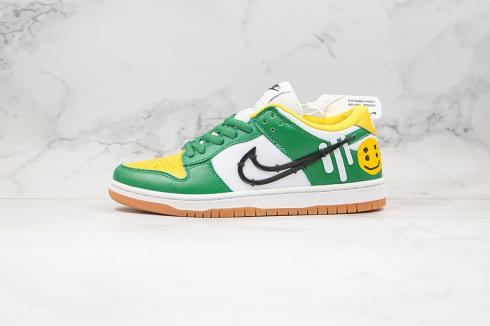 Nike SB Dunk Low White Green Yellow Black CU1727-011