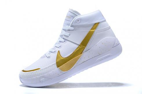 2020 Nike Zoom KD 13 EP White Metallic Gold Basketball Shoes Online CI9949-107