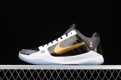 Nike Kobe V Protro Black White Gold CD0824-127
