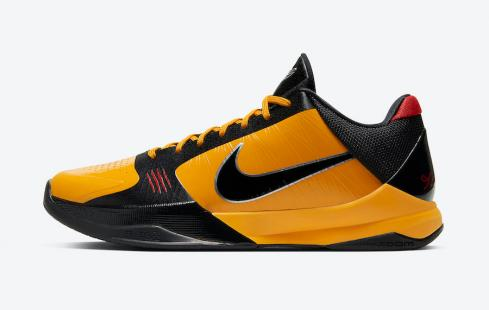 Nike Zoom Kobe 5 Protro Bruce Lee Yellow Black CD4991-700
