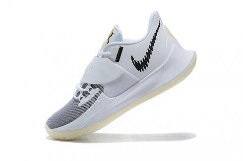 2020 Nike Kyrie Low 3 EP White Black Grey Ivring Basketball Shoes CJ1287-100