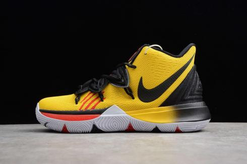 Nike Kyrie V 5 EP Yellow Black Jaune Ivring Basketball Shoes AO2919-700