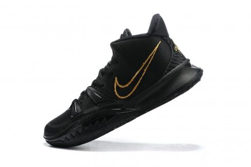 Newest Coming Nike Kyrie 7 VII Pre Heat EP Black Gold Basketball Shoes CQ9327-008