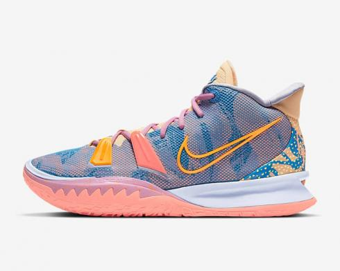 Nike Zoom Kyrie 7 Preheat Expressions Ghost Laser Orange Blue Beyond DC0588-003