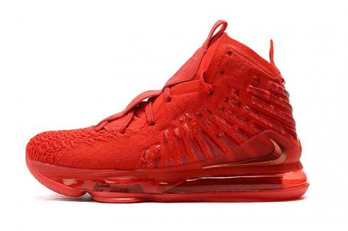2020 Nike Zoom Lebron XVII 17 Red Carpet University Red James Basketball Shoes BQ3178-600