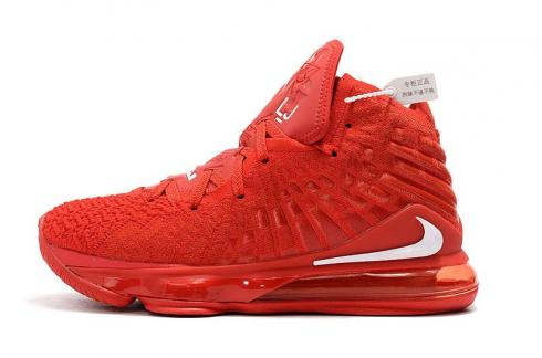 Nike Zoom Lebron XVII 17 University Red New Release James Basketball Shoes BQ3177-610