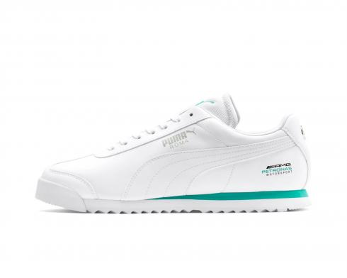 Puma MAPM Mercedes White Green Roma Mens Running Shoes 339872-02