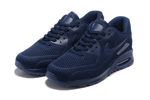 Nike Air Max 90 Ultra Breathe Midnight Navy Men Women Sneakers Shoes 725222-401